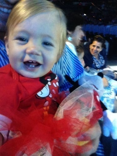 Smiling baby at Disney on Ice South FL
