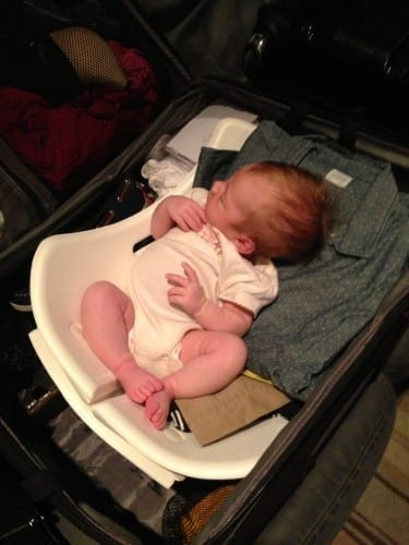 Traveling alone on an airplane with a baby
