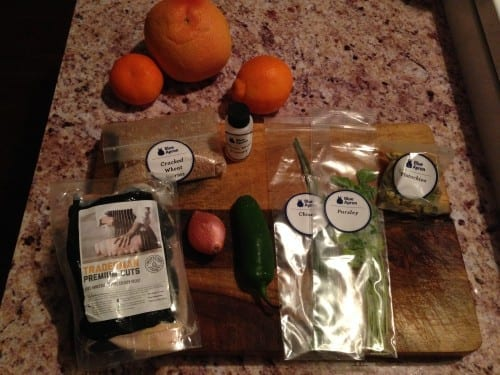 Blue Apron at home cooking and delivery