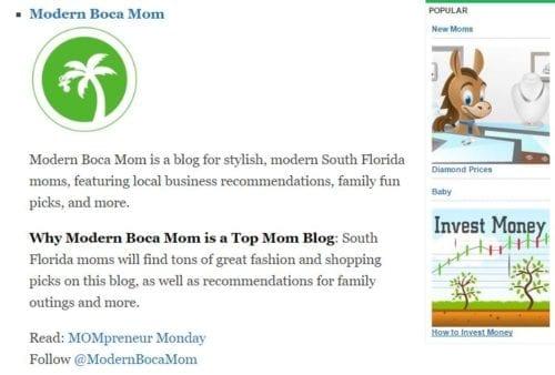Modern Boca Mom press