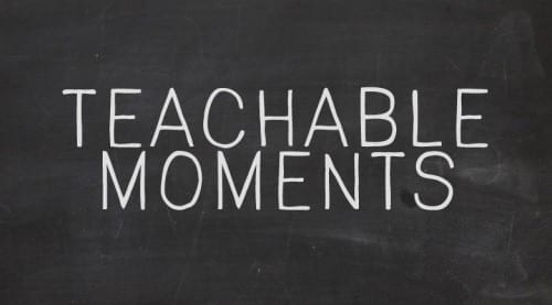 Benefits of teachable moments