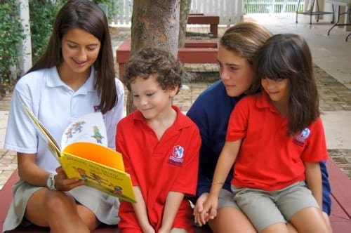 Kids Reading at Grandview Preparatory School in Boca Raton