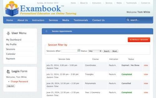 Exambook Tutoring Service