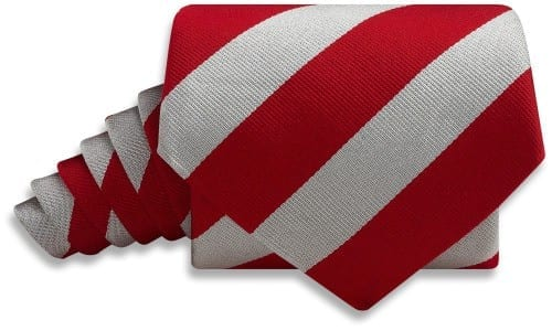 Beau Ties Collegiate Red and Silver necktie $69
