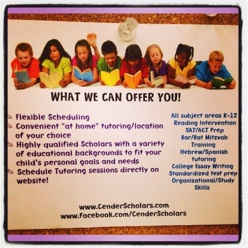 Cender Scholars Tutoring