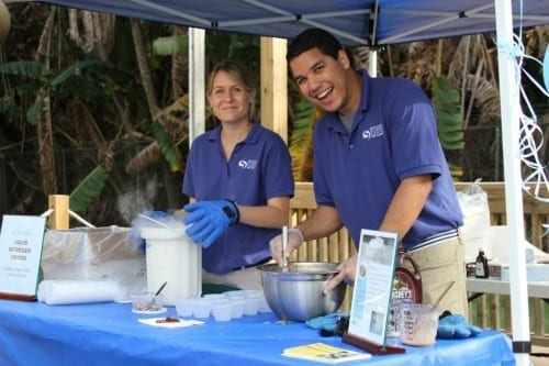 Alaina Kurtz and Chris Oritz, Science Center Educators Modern Boca Mom