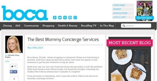 Boca Mom Talk Best Mommy Concierge Services 3.5.15