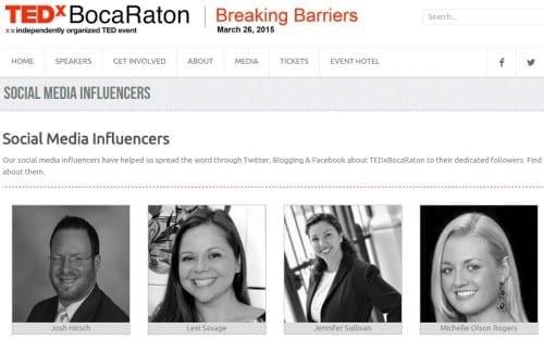 TEDxBoca Raton 2015 Social Media Influencer Modern Boca Mom