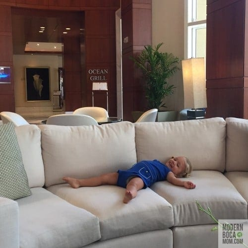 Palm Beach Marriott Singer Island Beach Resort & Spa suite lobby with #dailybocaavery