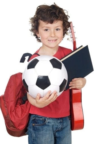 adorable child happy to make activities extracurricular
