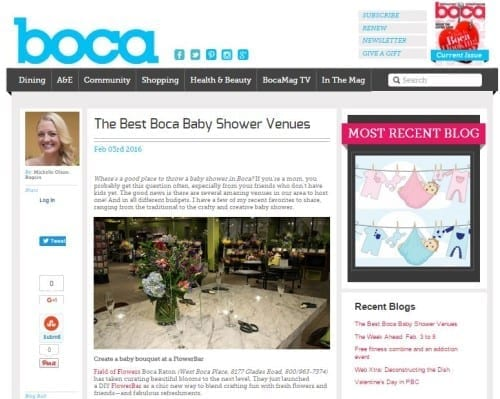 Best Boca Baby Shower Venues 2.3.16