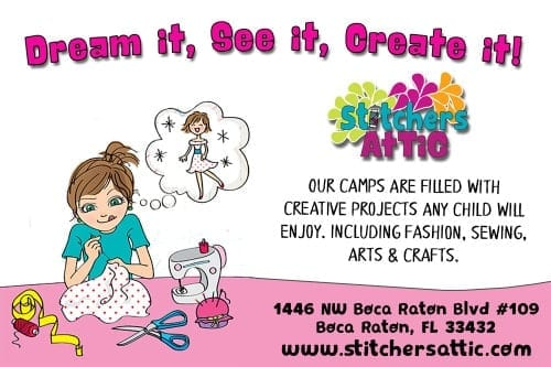STITCHERS ATTIC AD 2016 South Florida Summer Camps