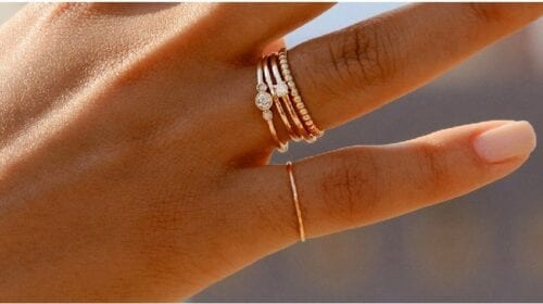Dainty Gold Rings from AU-Rate