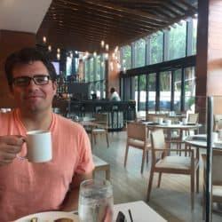 #modernbocadad enjoying his coffee
