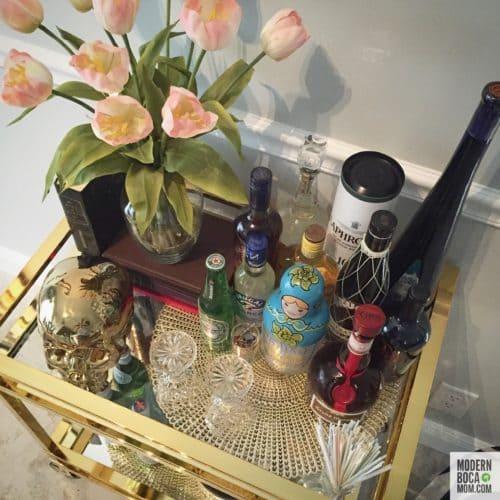 Bar Cart Styling Tips from Modern Boca Mom
