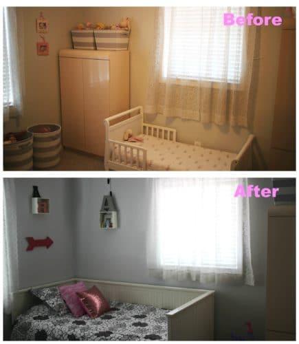Big girl bedroom makeover on Boca Raton