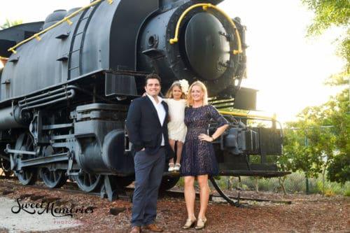 Boca Raton Train Museum photo shoot by Sweet Memories Photography