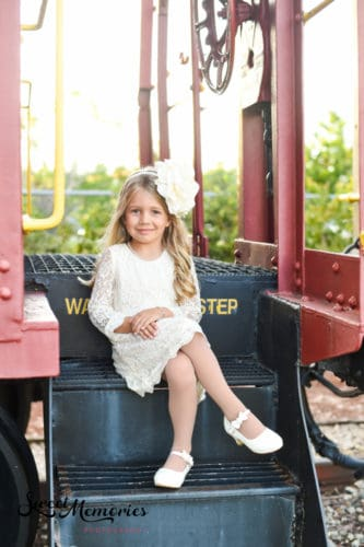Boca Raton Train Museum photo shoot by Sweet Memories Photography