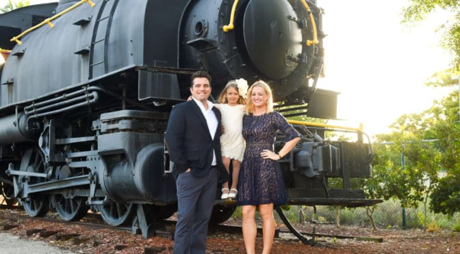 Boca Raton Train Museum Holiday Photo Shoot