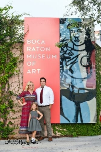 Boca Raton Museum of Art Outdoor Holiday Photoshoot with Sweet Memories Photography