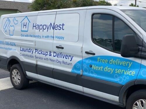 Boca Raton Laundry Service HappyNest van