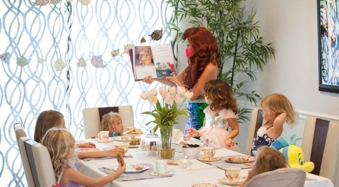 QuaranTEAM Tea Party Featuring Princess Ariel from Fairytale Productions