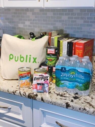 Storm supplies at Publix Boca Raton