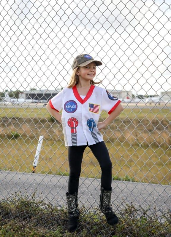 Young astronaut at Boca Raton Airport